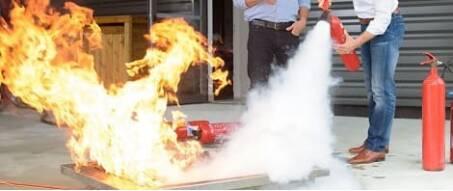Übungs-Feuerlöscher für Schulungen
