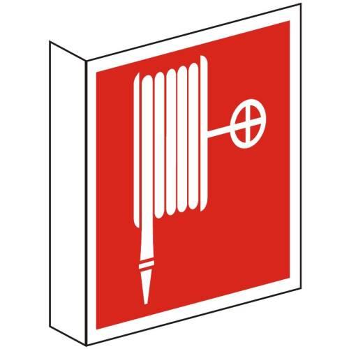 Brandschutzzeichen Fahnenschild Löschschlauch BGV
