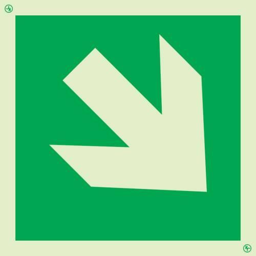 Rettungszeichen Richtungspfeil abwärts-aufwärts