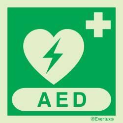 Rettungszeichen Symbole AED