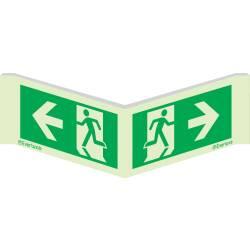 Rettungszeichen Winkelschild Laufrichtung links-rechts...