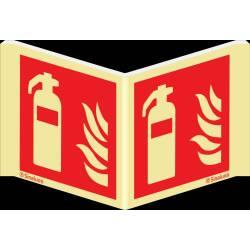 Brandschutzzeichen Winkelschild Feuerlöscher