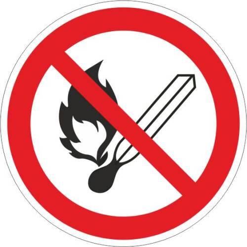 Verbotszeichen Feuer und Rauchen verboten