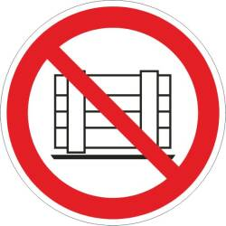 Verbotszeichen - Abstellen oder Lagern verboten ISO 7010