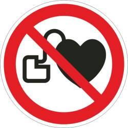 Verbotszeichen - Kein Zutritt für Personen mit...
