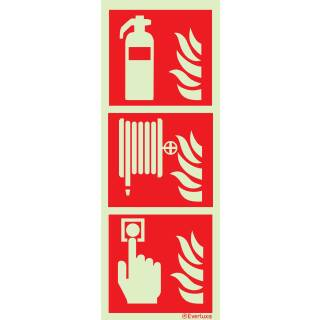 Feuerlöscher/Handalarm/Löschschlauch
